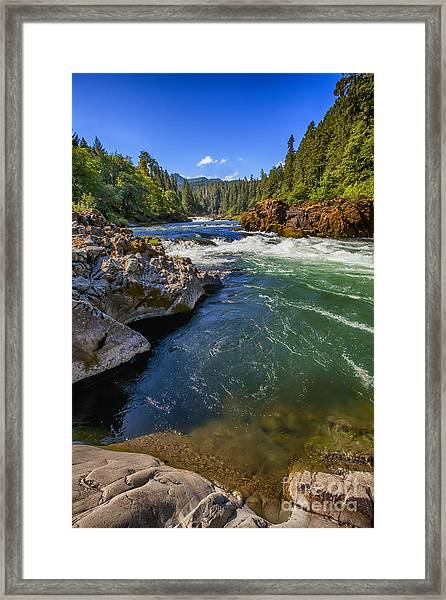 Umpqua River Framed Print