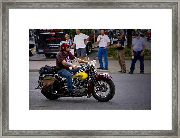 Un-named Crosscountry Harley Framed Print