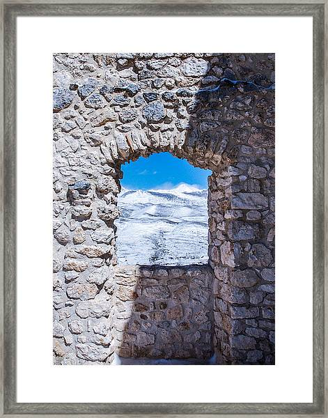 A Window On The World Framed Print