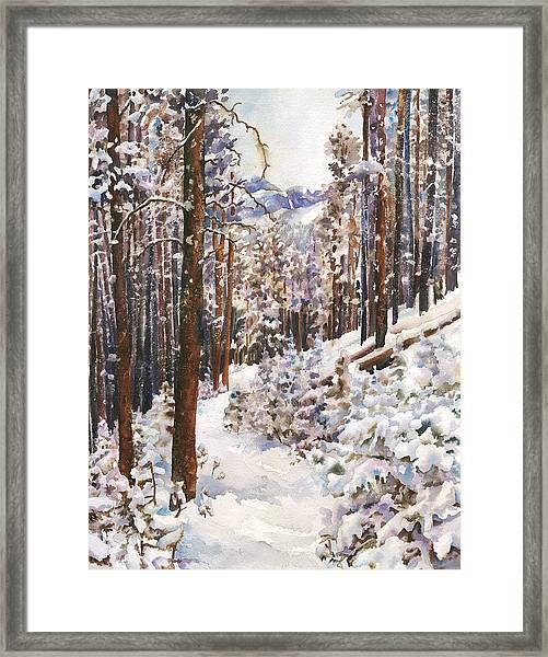 Unbroken Snow Framed Print