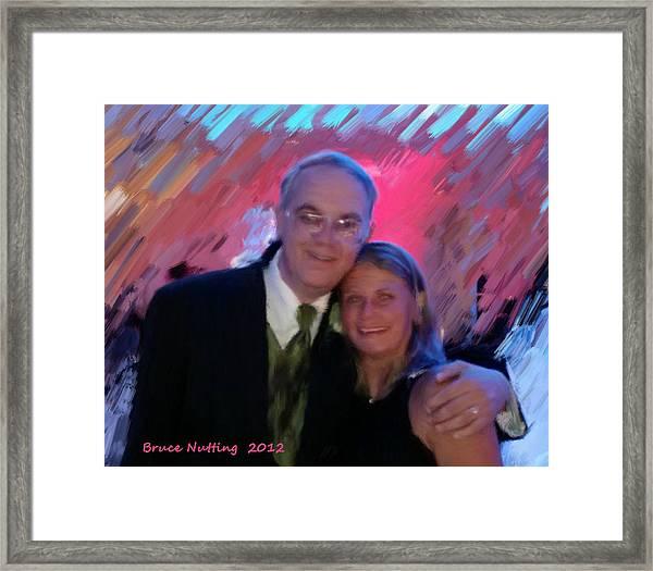 Uncle Bruce And Elisa Framed Print