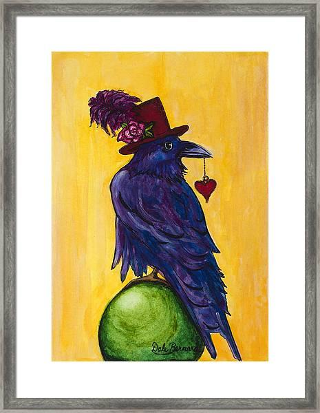 Uncommon Raven Love 1 Framed Print