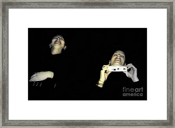 Uncontrolled Joy Framed Print