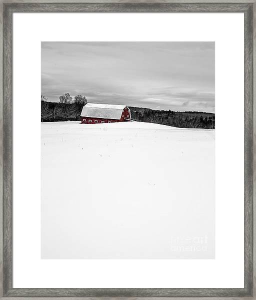 Under A Blanket Of Snow Christmas On The Farm Framed Print