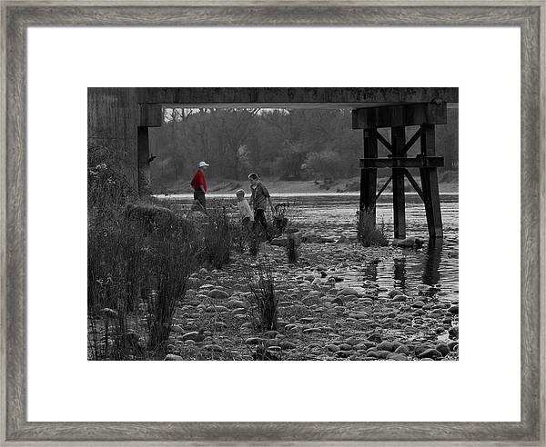 under Jims Bridge Framed Print