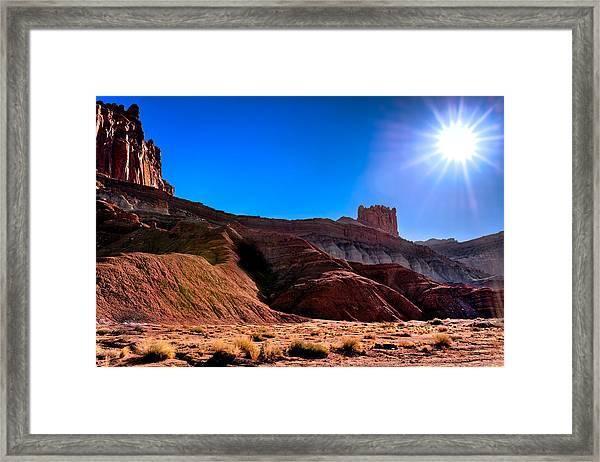 Under The Capitol Sun Framed Print
