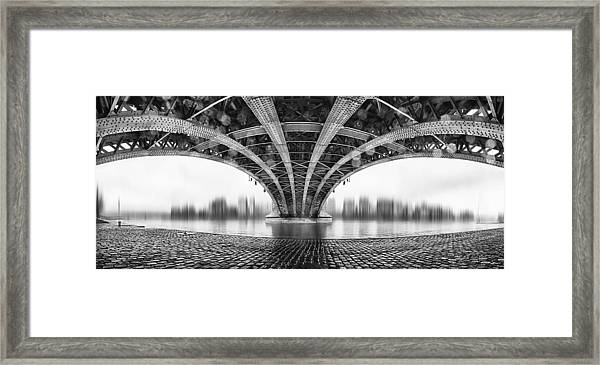 Under The Iron Bridge Framed Print
