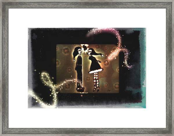 Under The Mistletoe Framed Print