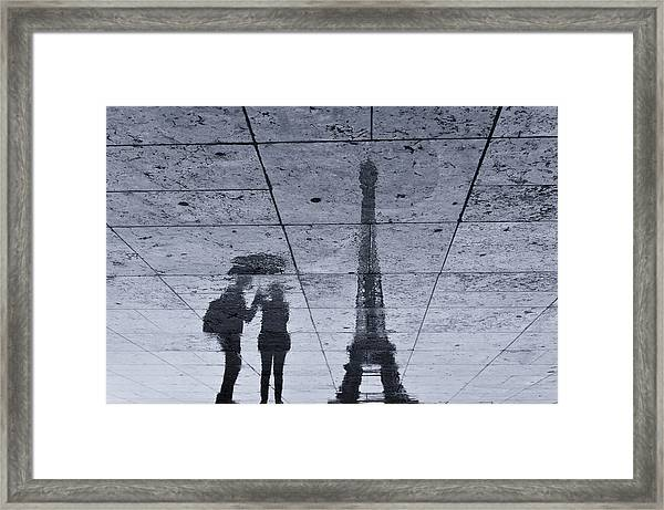 Under The Rain In Paris Framed Print