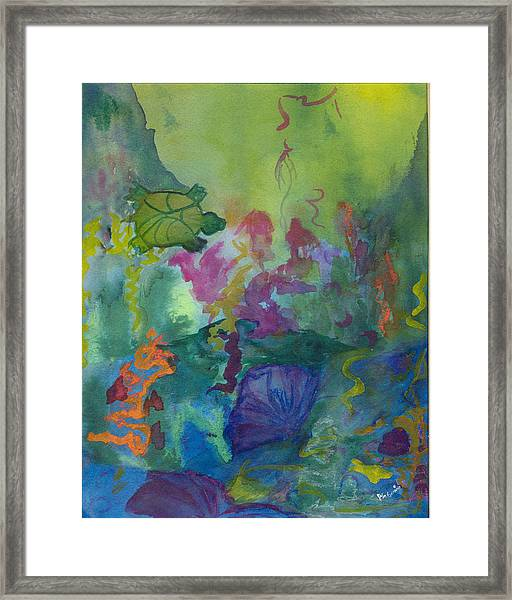 Under The Sea Framed Print by Phoenix Simpson