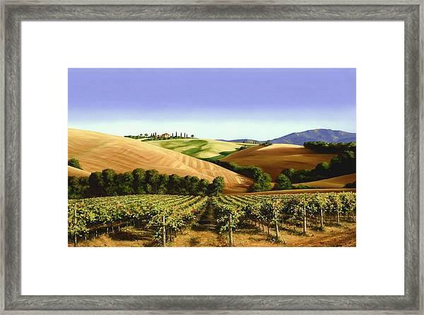 Under The Tuscan Sky Framed Print