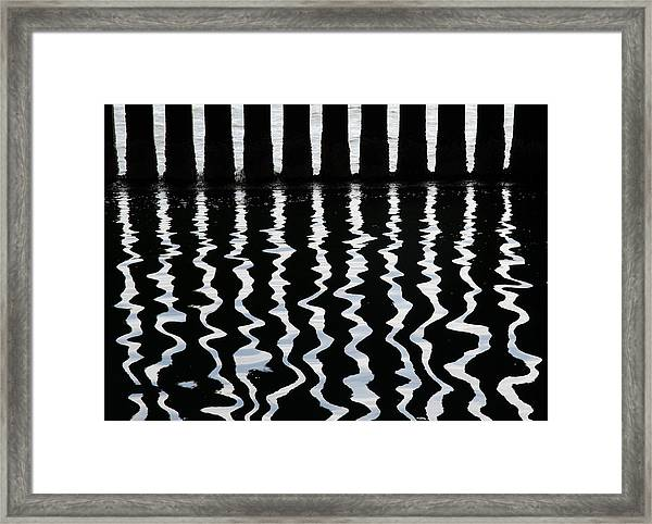 Under The Wharf 3 Framed Print