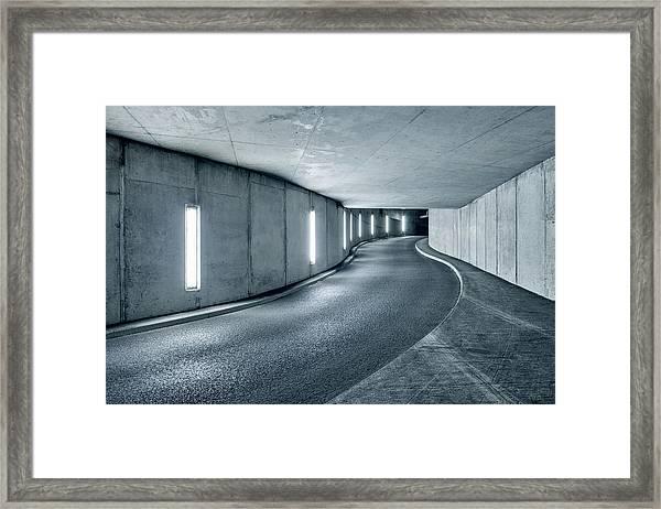 Underground Parking Garage Framed Print