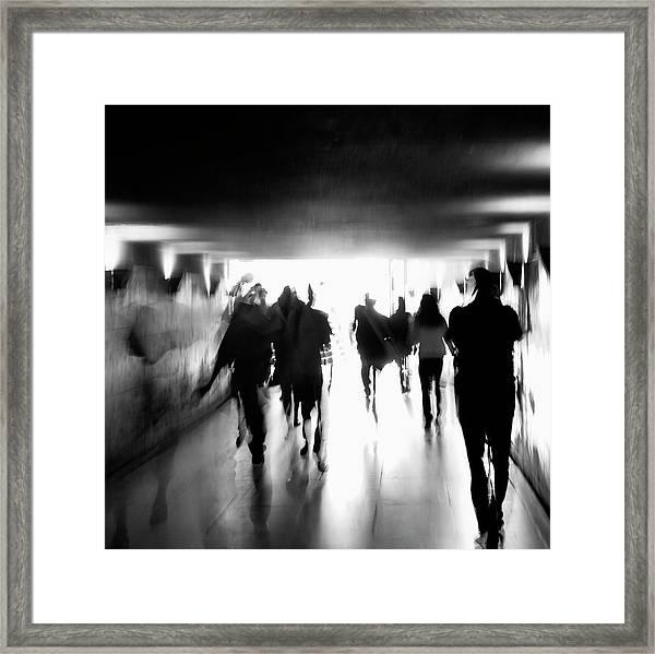 Underground Pathway Framed Print by Andrea Klein