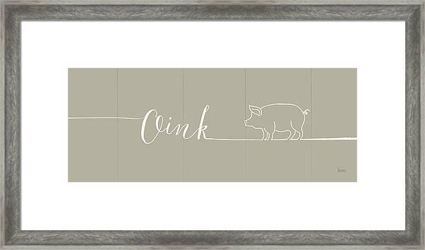 Underlined Farm I Greige Framed Print