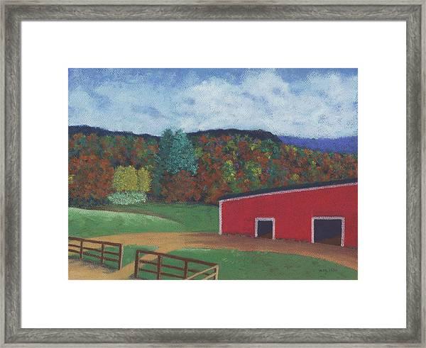 Undermountain Autumn Framed Print