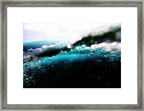 Underwater Bubbles Framed Print
