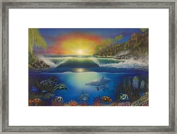 Underwater Paradise Framed Print