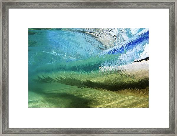 Underwater Wave Curl Framed Print