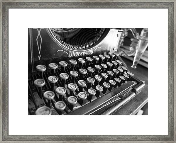 Write Something Framed Print