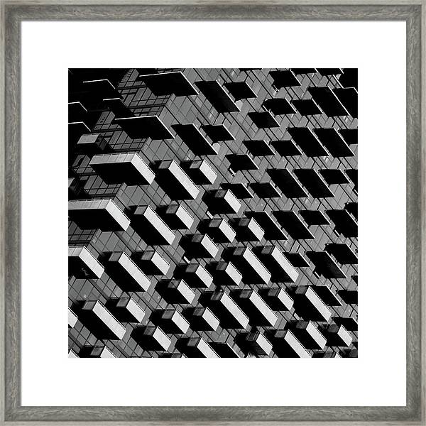 Unfinished Balcony Framed Print by Jonathan Lai