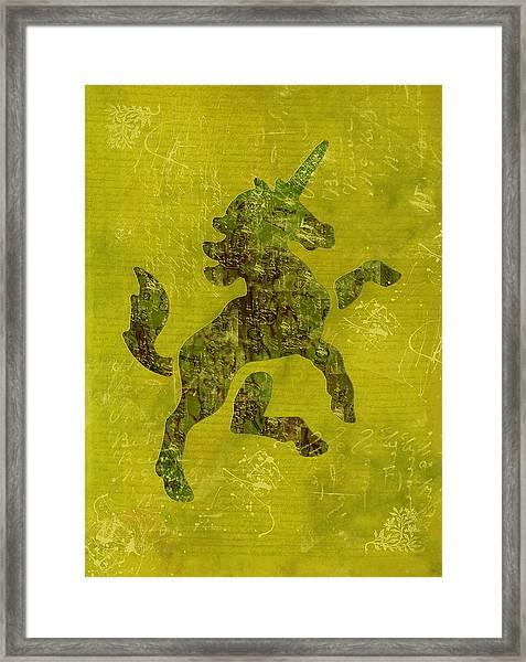 Unicorn Fresco Framed Print
