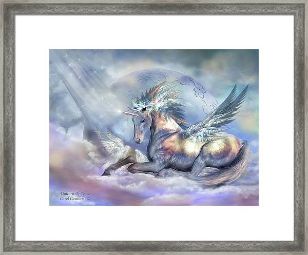 Unicorn Of Peace Framed Print
