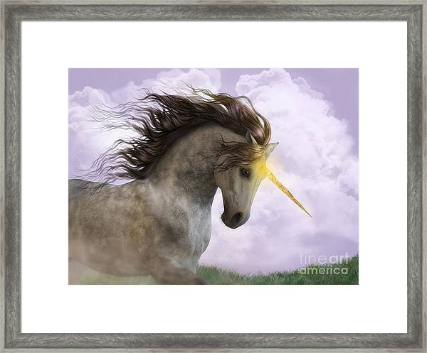 Unicorn With Magic Horn Framed Print