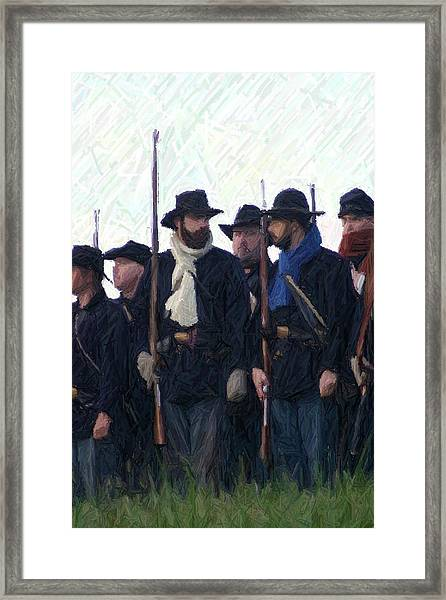 Union Colors - Perryville Ky Framed Print by Thia Stover
