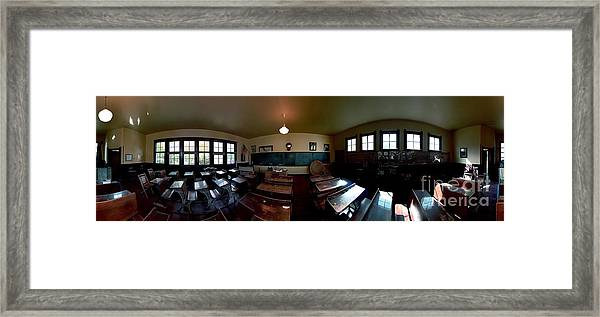 Union  Illinois One Room School House Framed Print