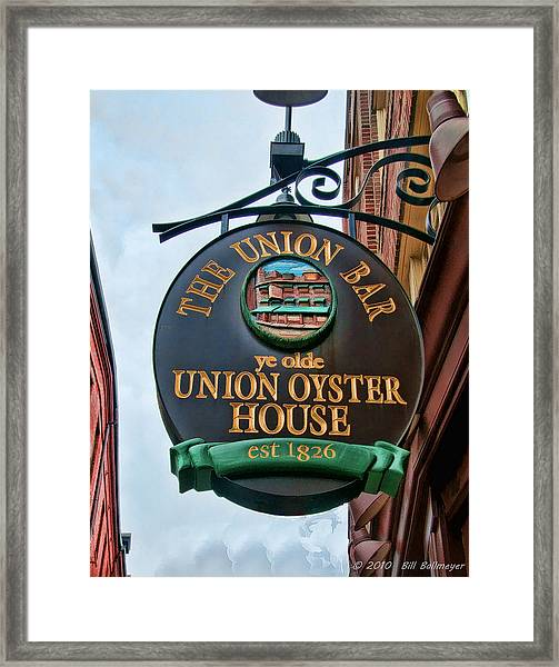 Union Oyster House  Framed Print by Bill