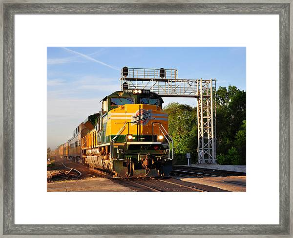 Union Pacific Chicago And North Western Heritage Unit Framed Print