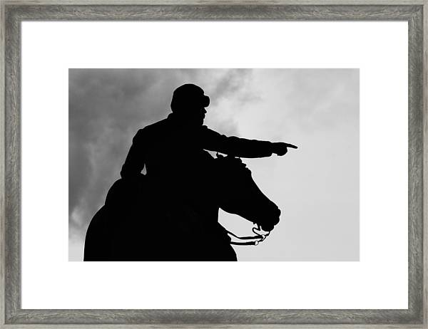Union Silhouette  Framed Print