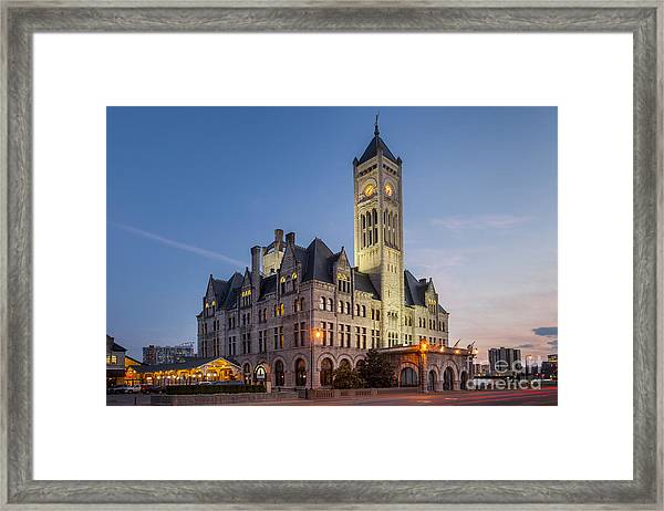 Framed Print featuring the photograph Union Station  by Brian Jannsen