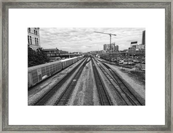 Union Station Railroad Tracks Framed Print
