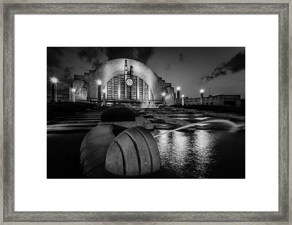 Union Terminal At Night Framed Print