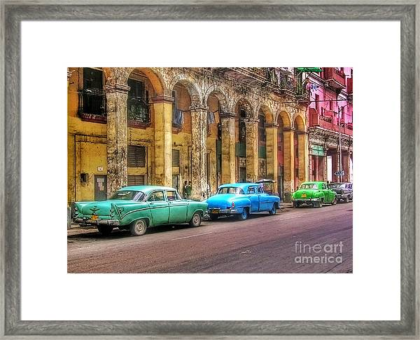 United Colors Of Coches Habaneros Framed Print