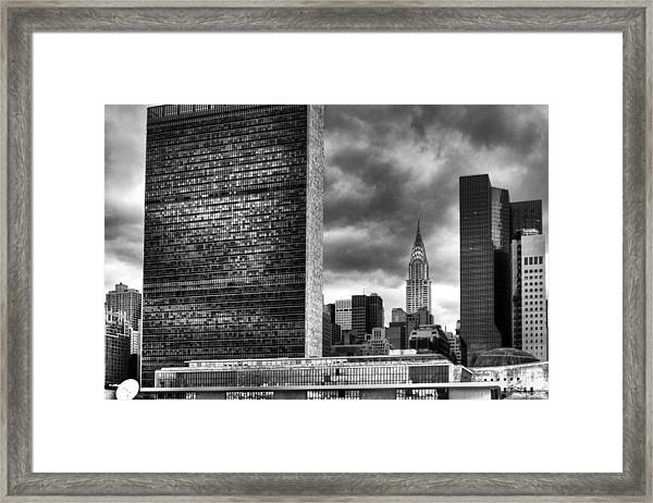 United Nations And Chrysler Building Framed Print