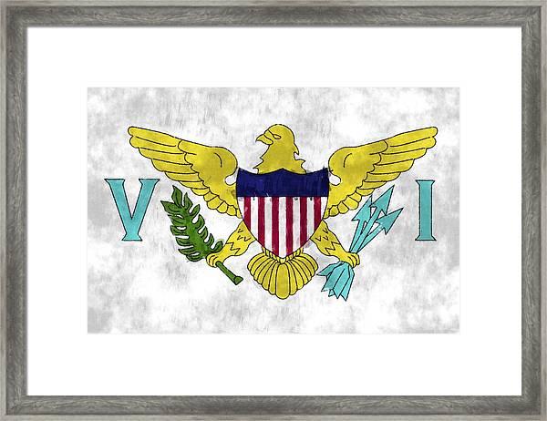 United States Virgin Islands Flag Framed Print