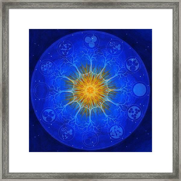 Universal Tree Of Life - Creative Fire Framed Print