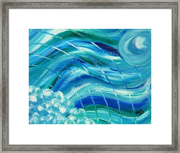 Universal Waves Framed Print