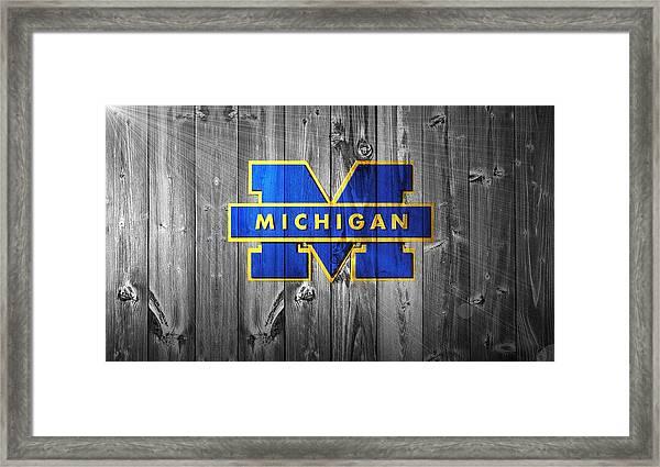 University Of Michigan Framed Print