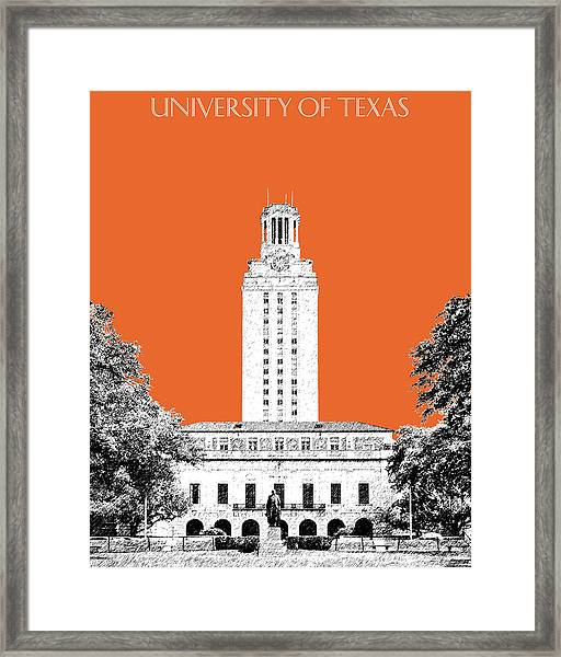 University Of Texas - Coral Framed Print