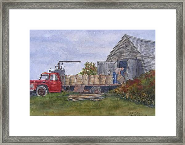 Unloading At The Potato House Framed Print