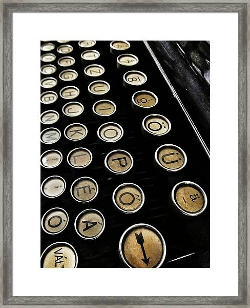 Unsaid Words Framed Print