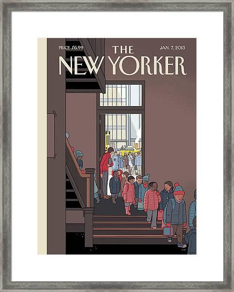 New Yorker January 7th, 2013 Framed Print