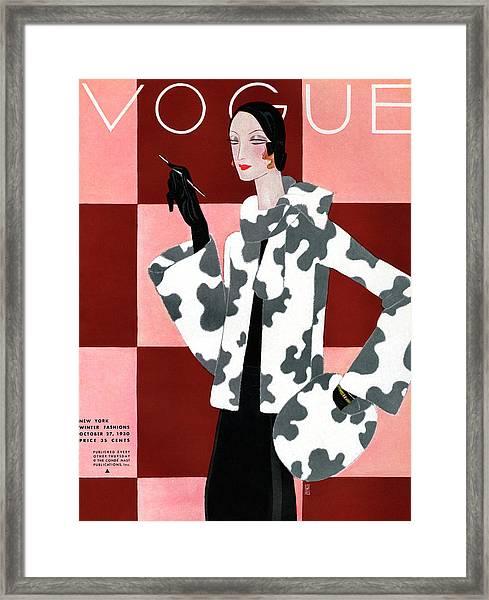 Vogue October 27th, 1930 Framed Print