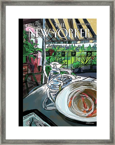 New Yorker July 30th, 2012 Framed Print