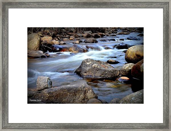 Up The Creek 3-16-2014 Framed Print