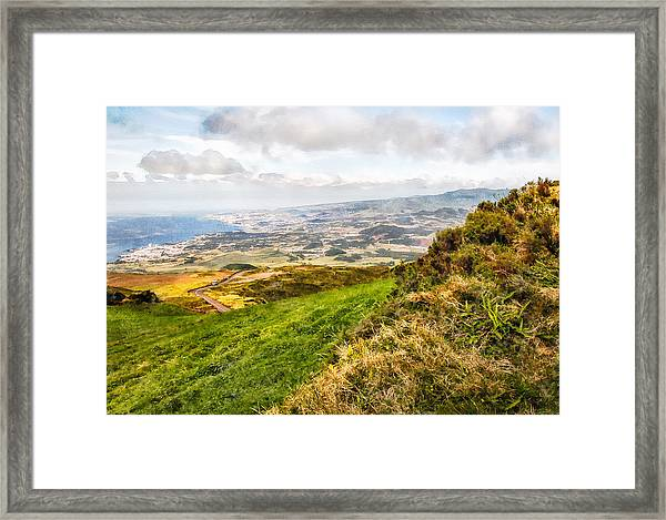 Up To The Top Framed Print